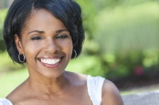 Beautiful African American Woman Outdoor Portrait